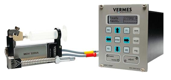 Vermes, sistema piezoeléctrico de dispensación