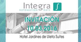 Invitación: Integra Automation Days en el Hotel Jardines de Uleta Suites