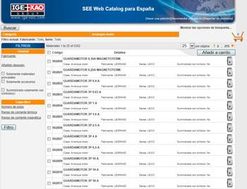 IGE + XAO anuncia el lanzamiento de SEE Web Catalogue, un portal en línea con un catálogo de equipamiento eléctrico.