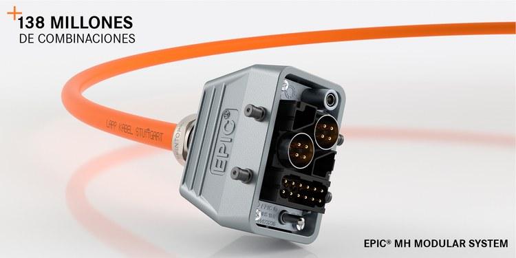Sistema de conector modular rectangular EPIC® MH de LAPP