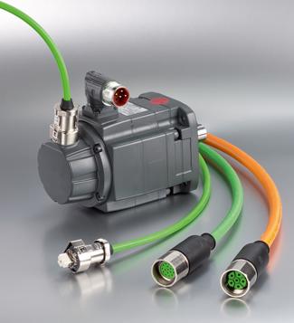 Conexión sencilla y sellada para servomotores