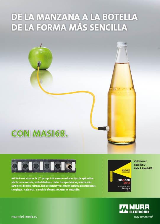 De la manzana a la botella con MASI68, sistema flexible de periferia descentralizada
