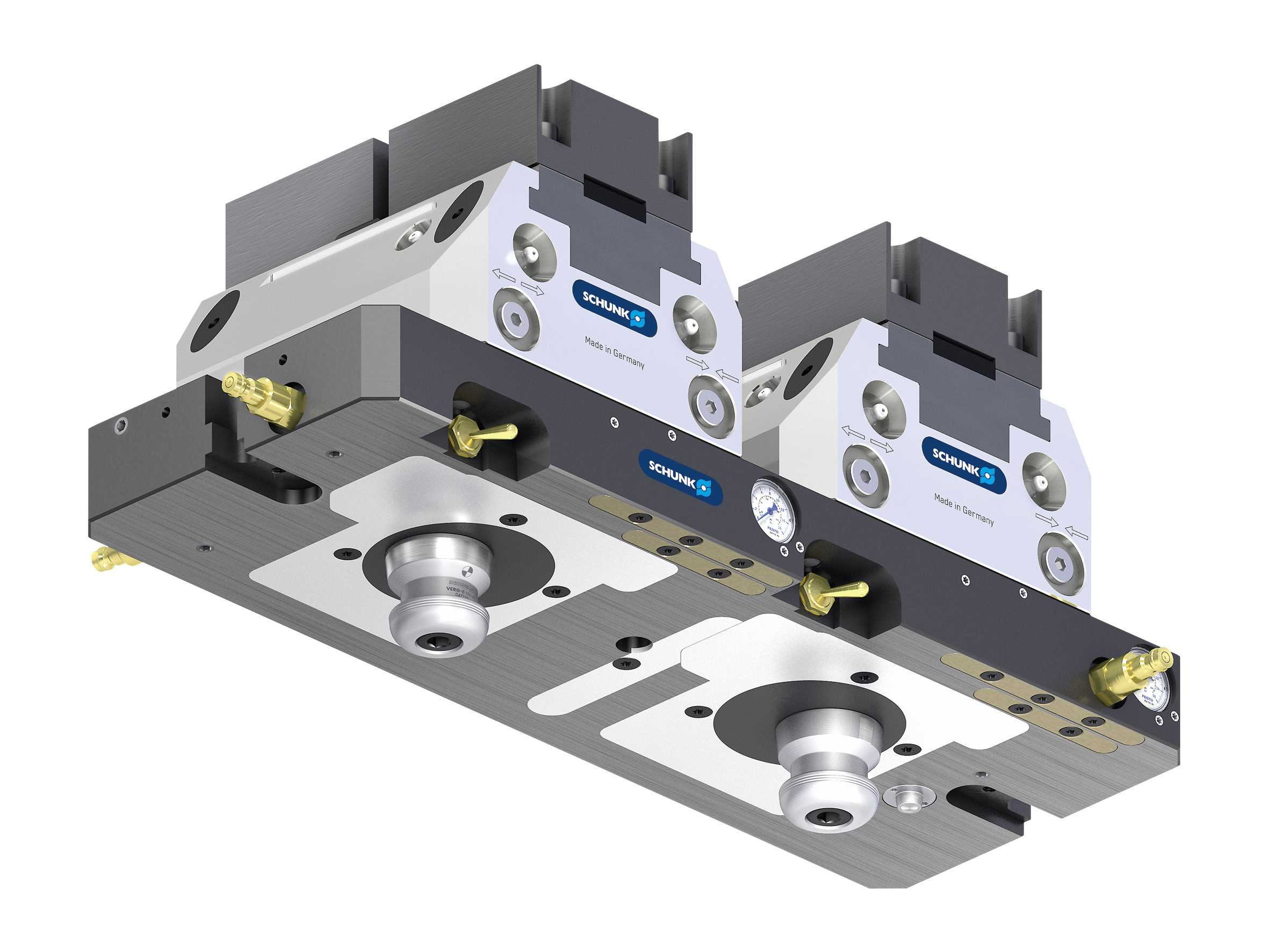 Placas base estándar, para mordazas de sujeción y el sistema de cambio rápido de palés