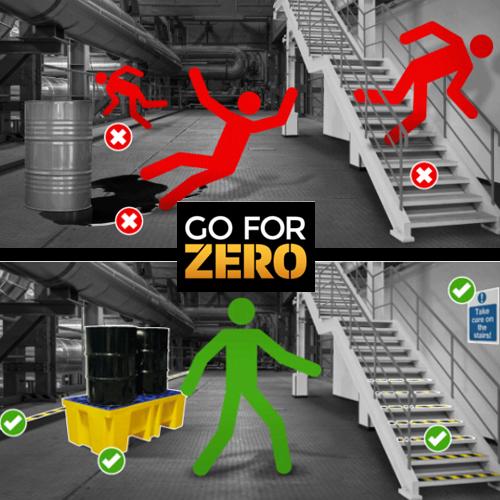 Objetivo cero: evite resbalones, tropiezos y caídas