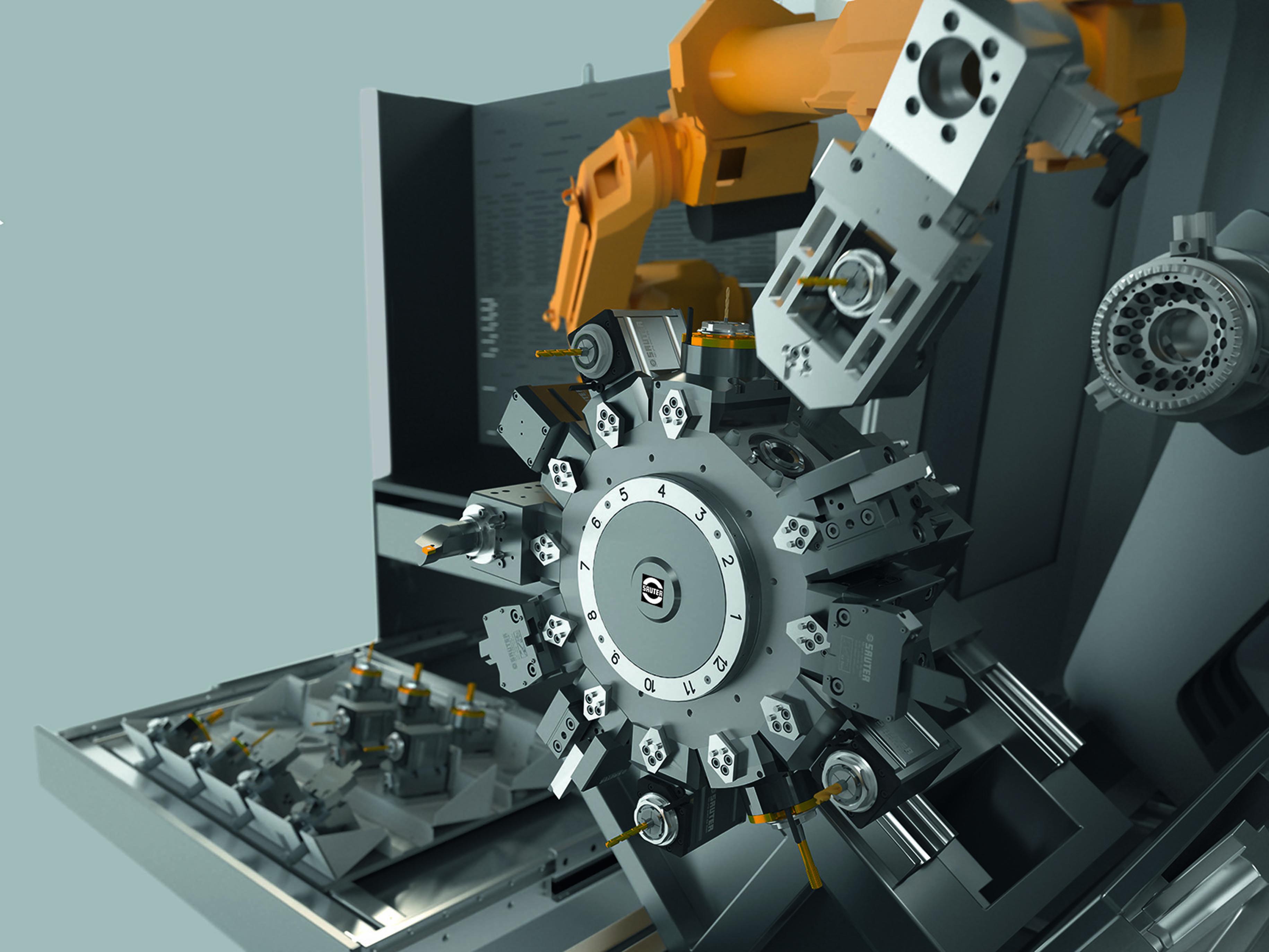 Sistema inteligente de cambio rápido de portaherramientas: Sauter Robofix®