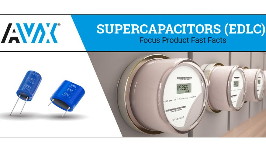 Gama de supercondensadores de AVX - Electrónica
