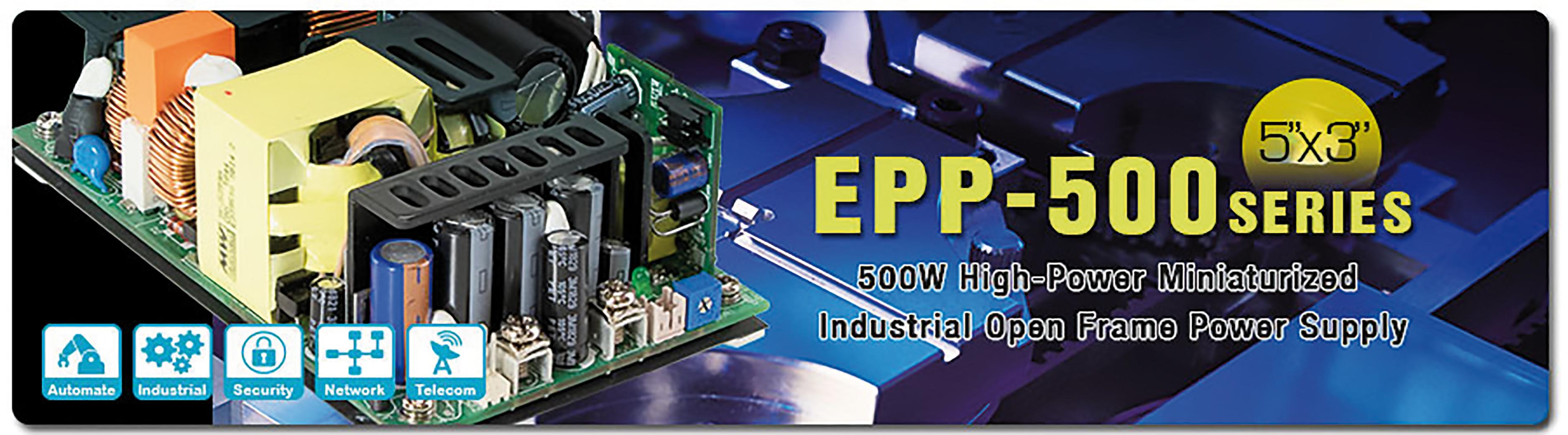 Fuente de alimentación en formato abierto EPP-500