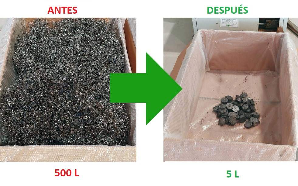 Compactadoras / Briquetadoras de viruta