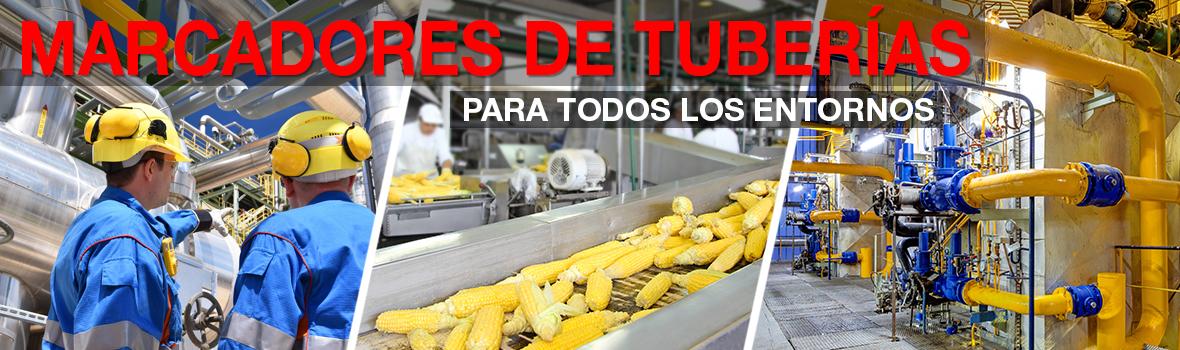Identifique tuberías en cualquier instalación y en cualquier lugar