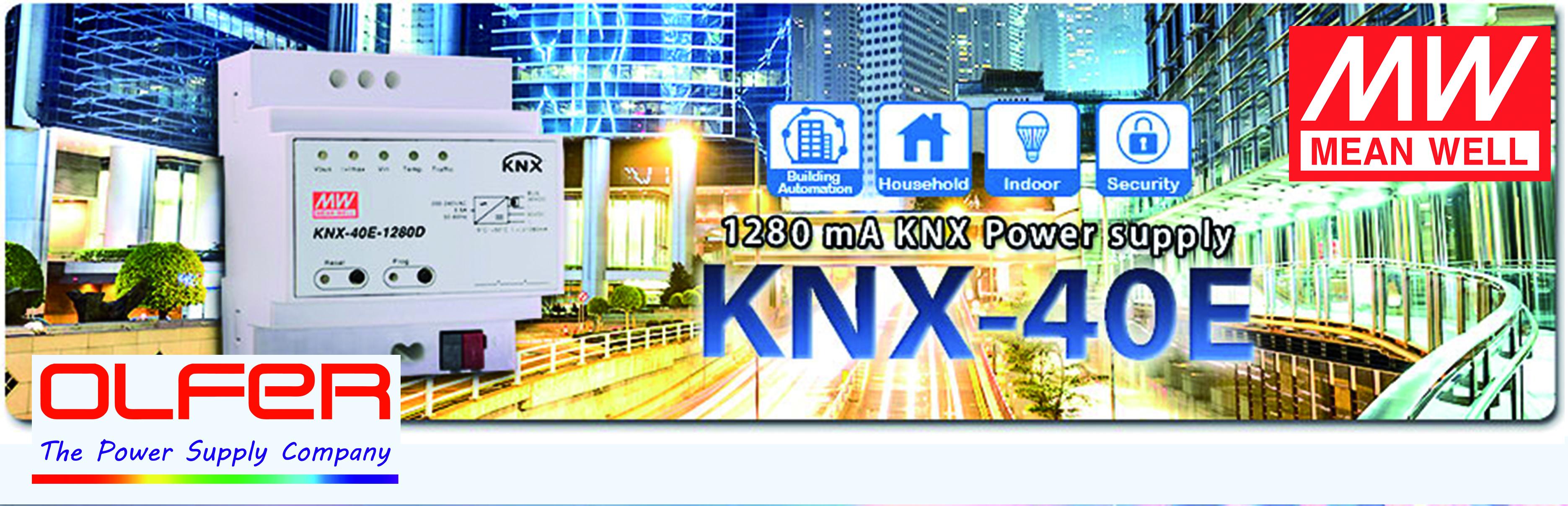 Fuente para alimentar el bus KNX con función de Diagnóstico KNX-40E-1280D
