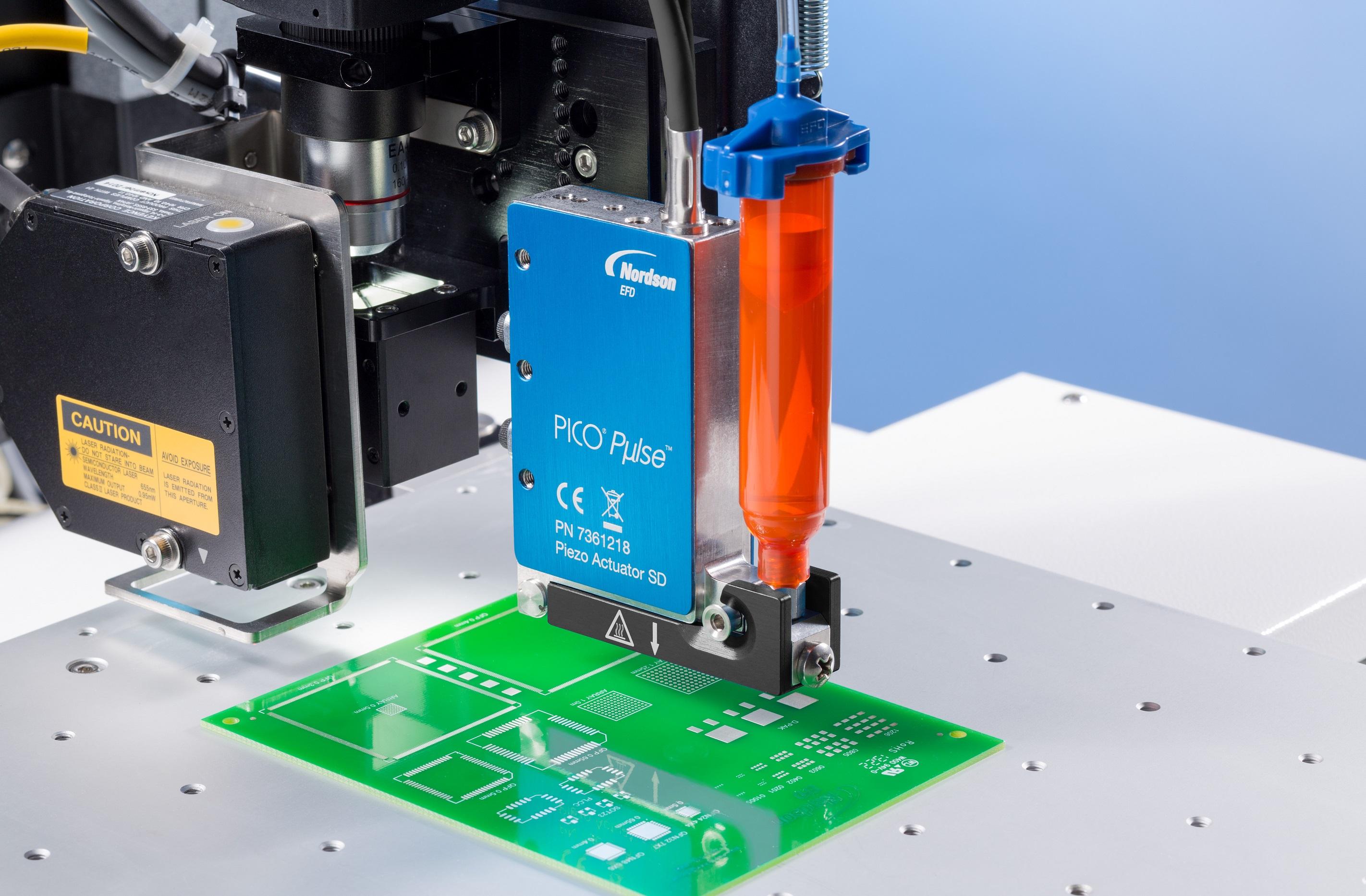 Precisión y velocidad en la dosificación sin contacto de válvula de micro depósitos de fluidos
