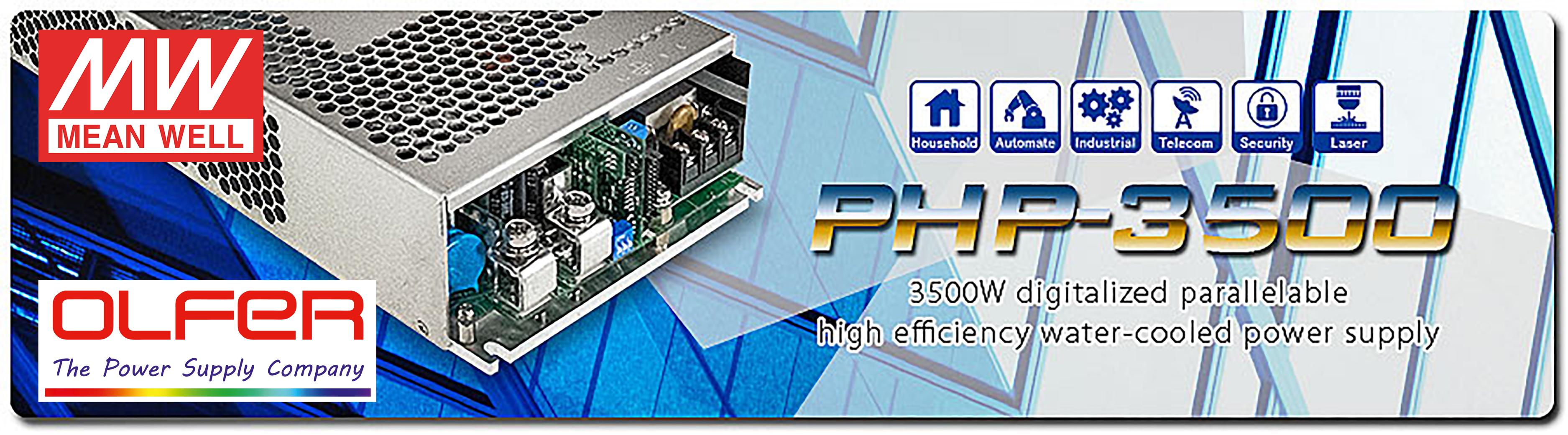 Fuente de alimentación refrigerada por agua de alta eficiencia serie PHP-3500
