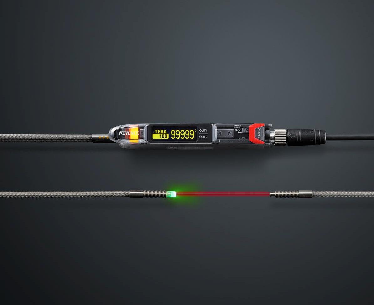 Keyence lanza un nuevo sensor digital de fibra óptica potente y fácil de utilizar