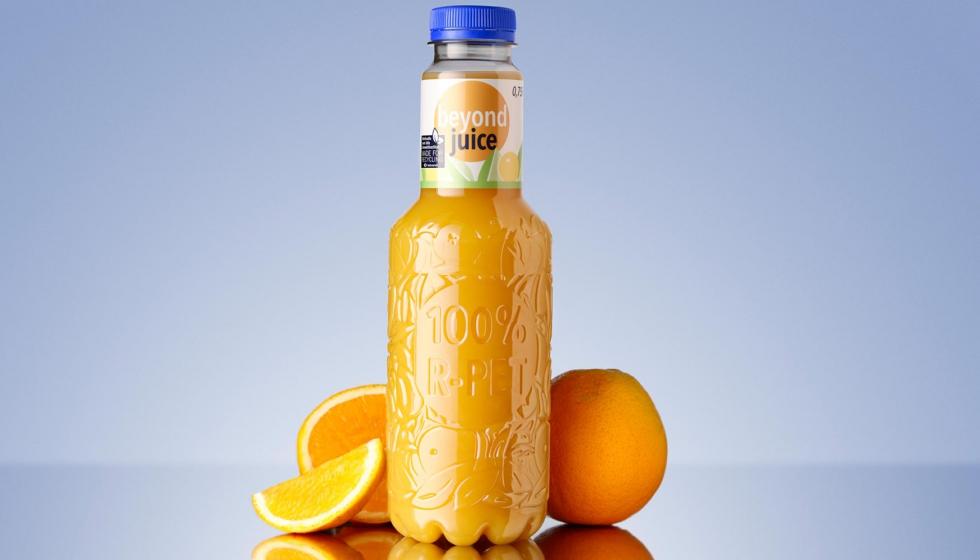 KHS presenta la primera botella de zumo reciclable de 100% rPET - Envase y  Embalaje