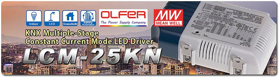 LED Driver multicorriente con certificado KNX: LCM-25KN