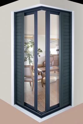 Puertas correderas de esquina invisibles cerramientos y for Puertas correderas de exterior