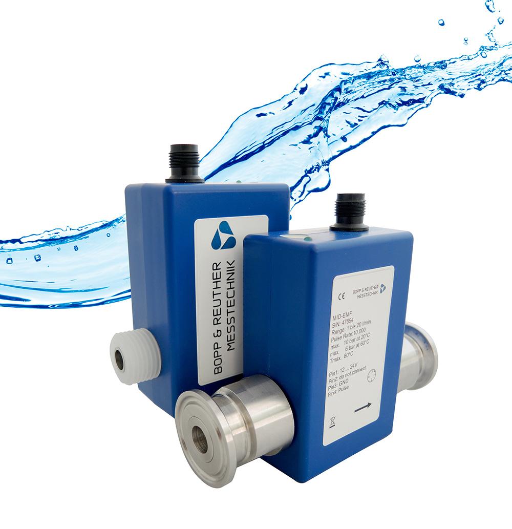 Medidores electromagnéticos de flujo serie MID-EMF