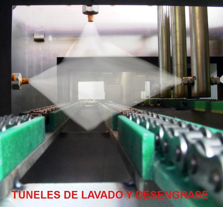 Máquinas lavadoras en forma de túnel