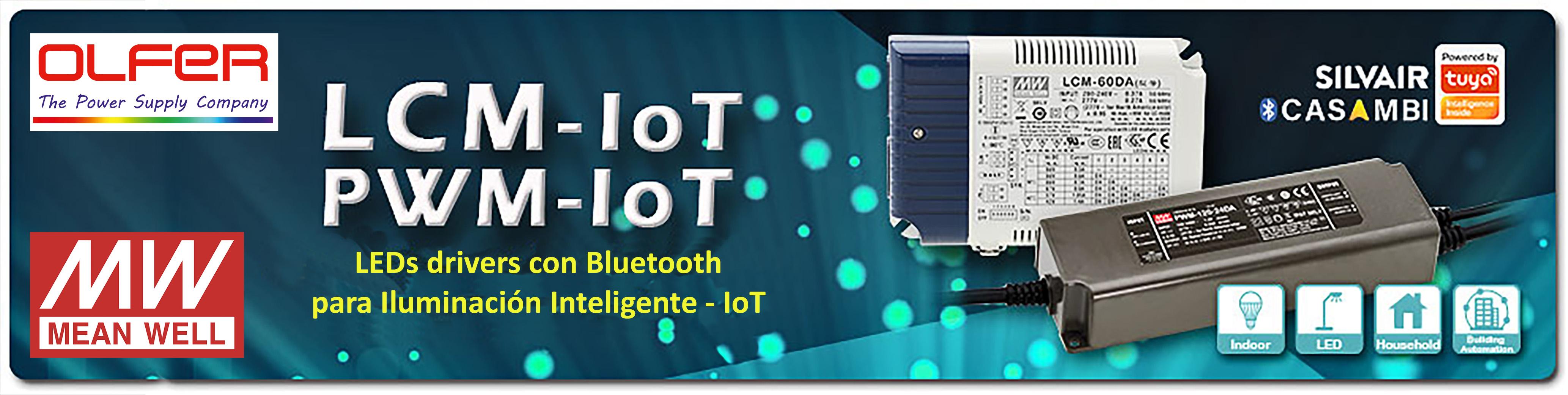 Red de malla abierta a Bluetooth de bajo consumo y LED driver para iluminación inteligente - IoT Series LCM / PWM-IoT