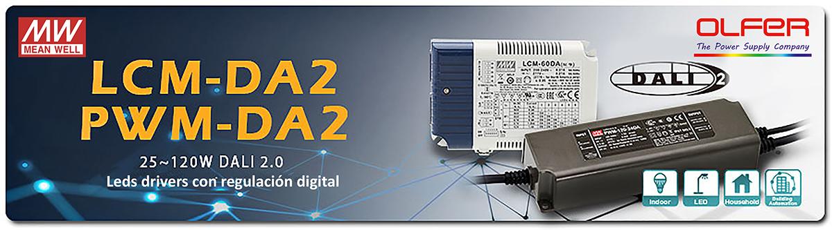 LEDs Drivers regulables DALI 2.0: LCM/PWM-DA2
