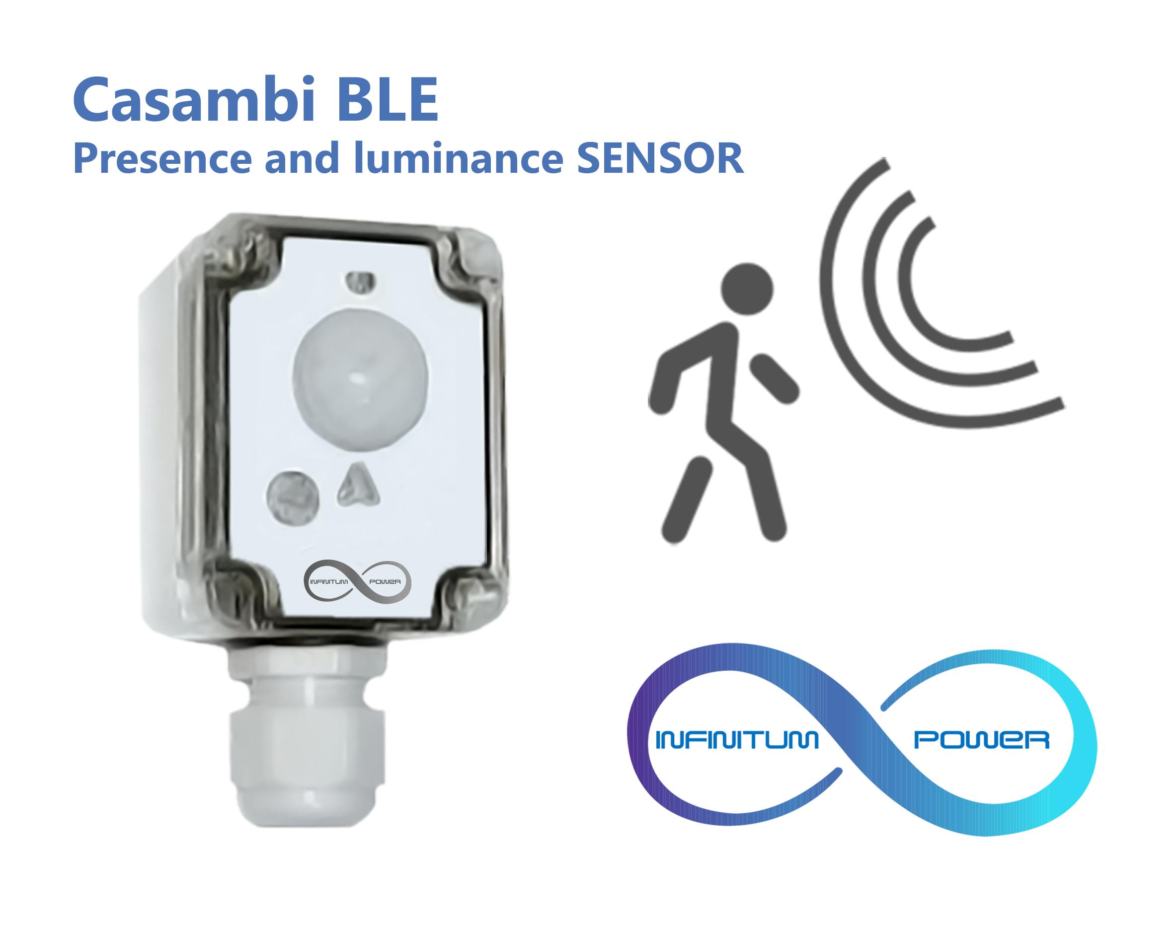 Sensor de presencia y luminancia Casambi: CBU-SENS-HB-010 17M.60X60