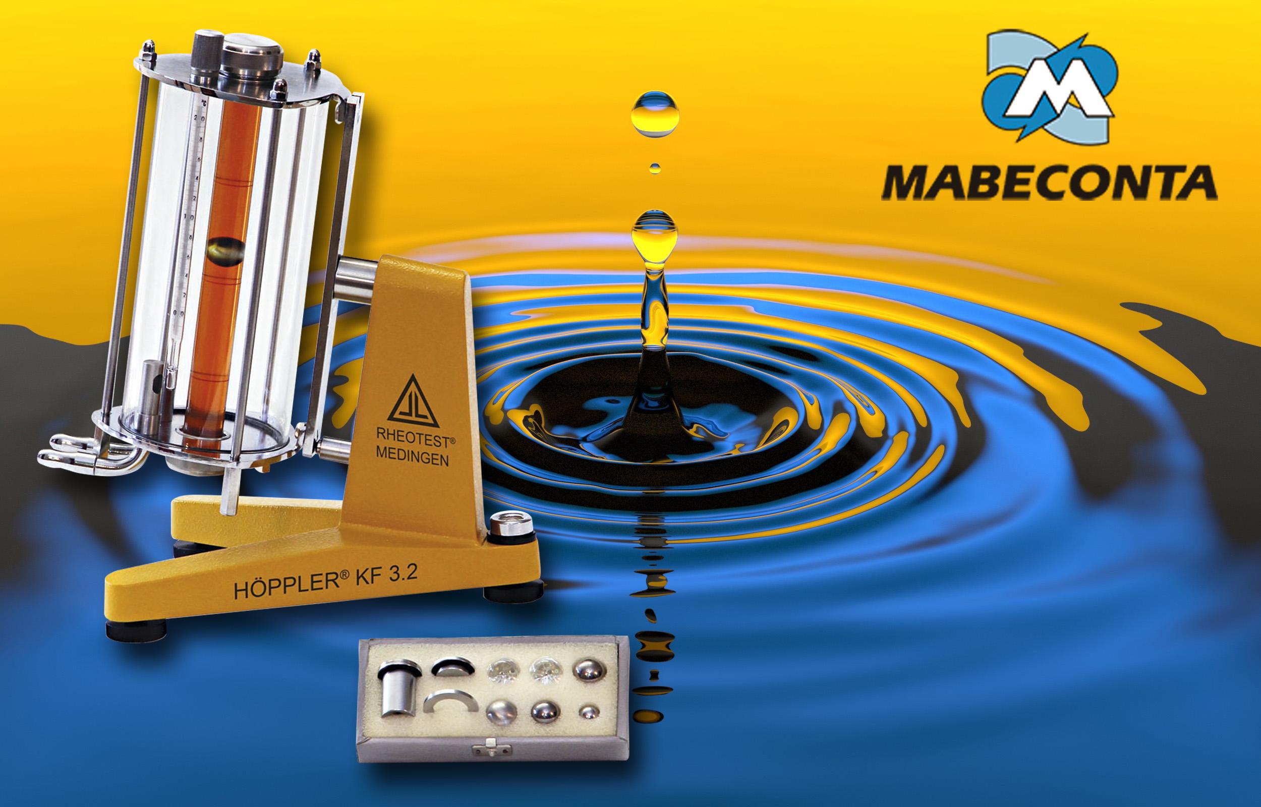 Viscosímetro de bola Mabeconta Höppler® KF 3.2