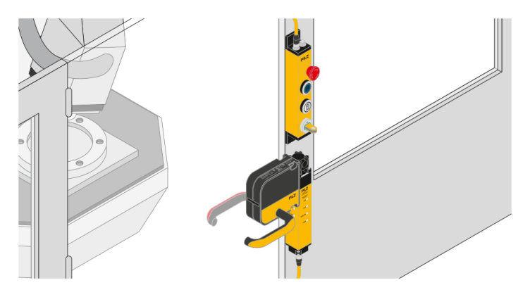 Módulo de maneta con desbloqueo de alineación integrado para la seguridad de puertas y accesos