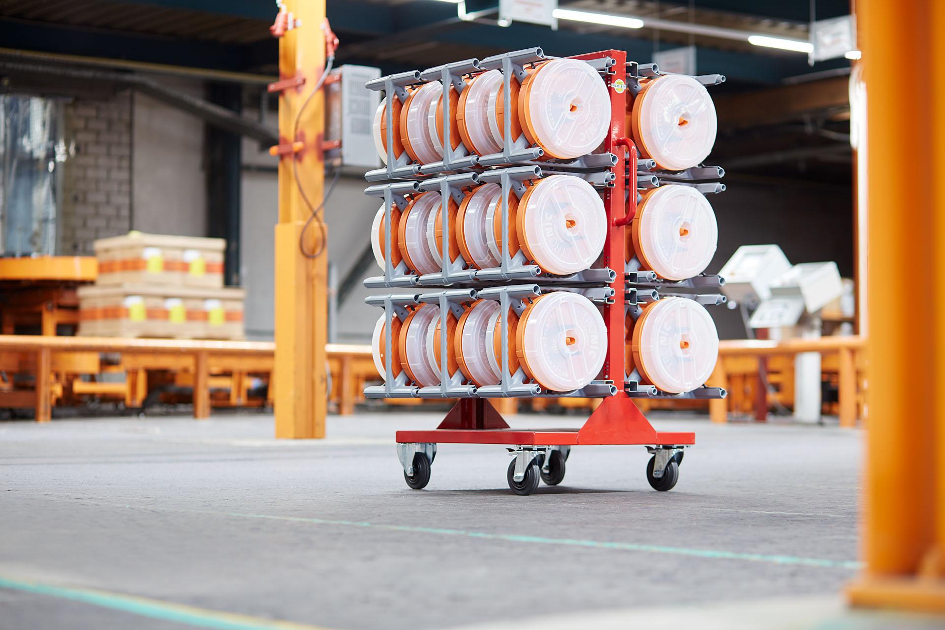 Prácticas soluciones de manipulación y transporte de cables