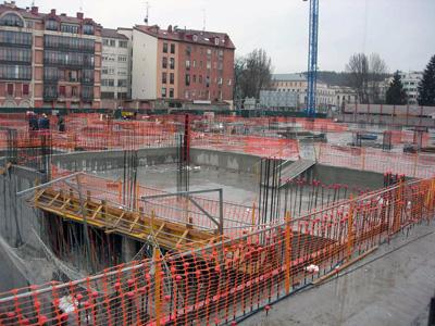 Protecciones colectivas barandillas construcci n - Barandillas de obra ...