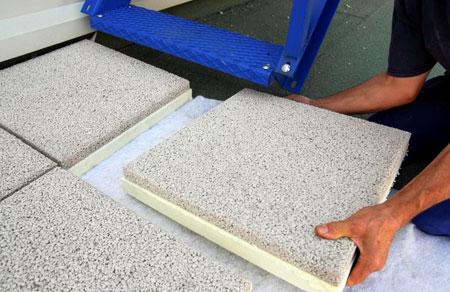 Rehabilitacion de cubiertas con losas filtrantes - Losas de hormigon para jardines ...