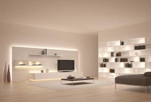 Un sistema de iluminaci n de muebles que se puede conectar en todo el mundo madera - Iluminacion para muebles ...