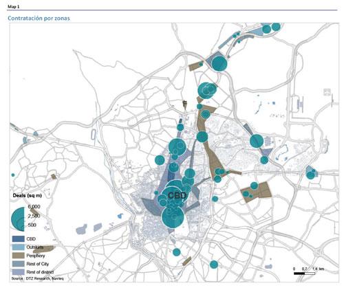 Mercado de oficinas madrid 3t 2012 los abogados se for Oficinas de allianz en madrid