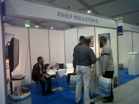 Knauf Insulation Shows his new products of industrial