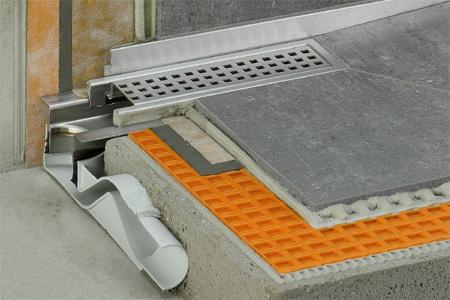 schl ter kerdi line f facilitates a low height of. Black Bedroom Furniture Sets. Home Design Ideas