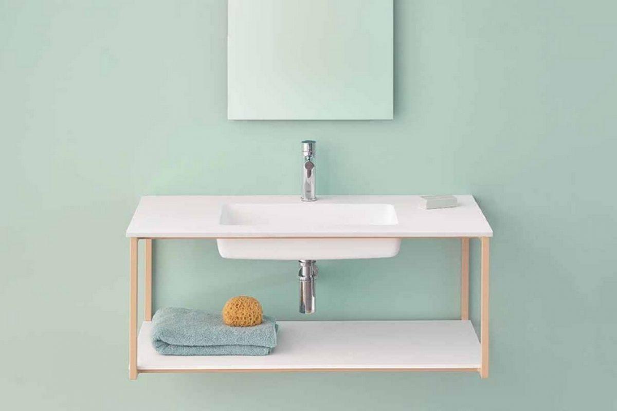 Sanycces presenta su primera colección de mobiliario de baño UNO con el uso de la piedra acrílica HI-MACS®