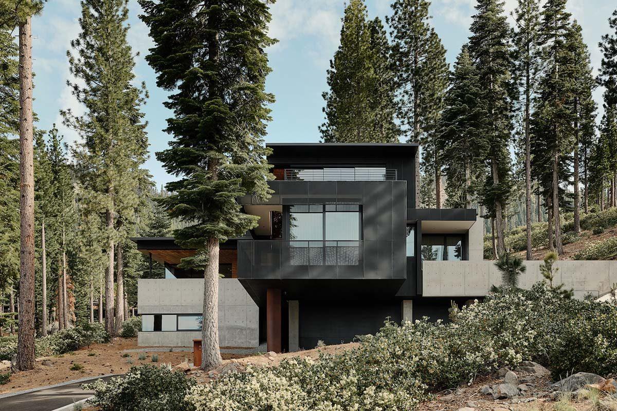 Casa Mirador por Faulkner Architects. Un homenaje a la actividad volcánica que definió el paisaje