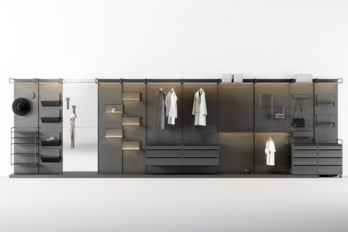 Materika de Gino Carollo para Ronda Design, el magnetismo modular texturizado entra en el vestidor