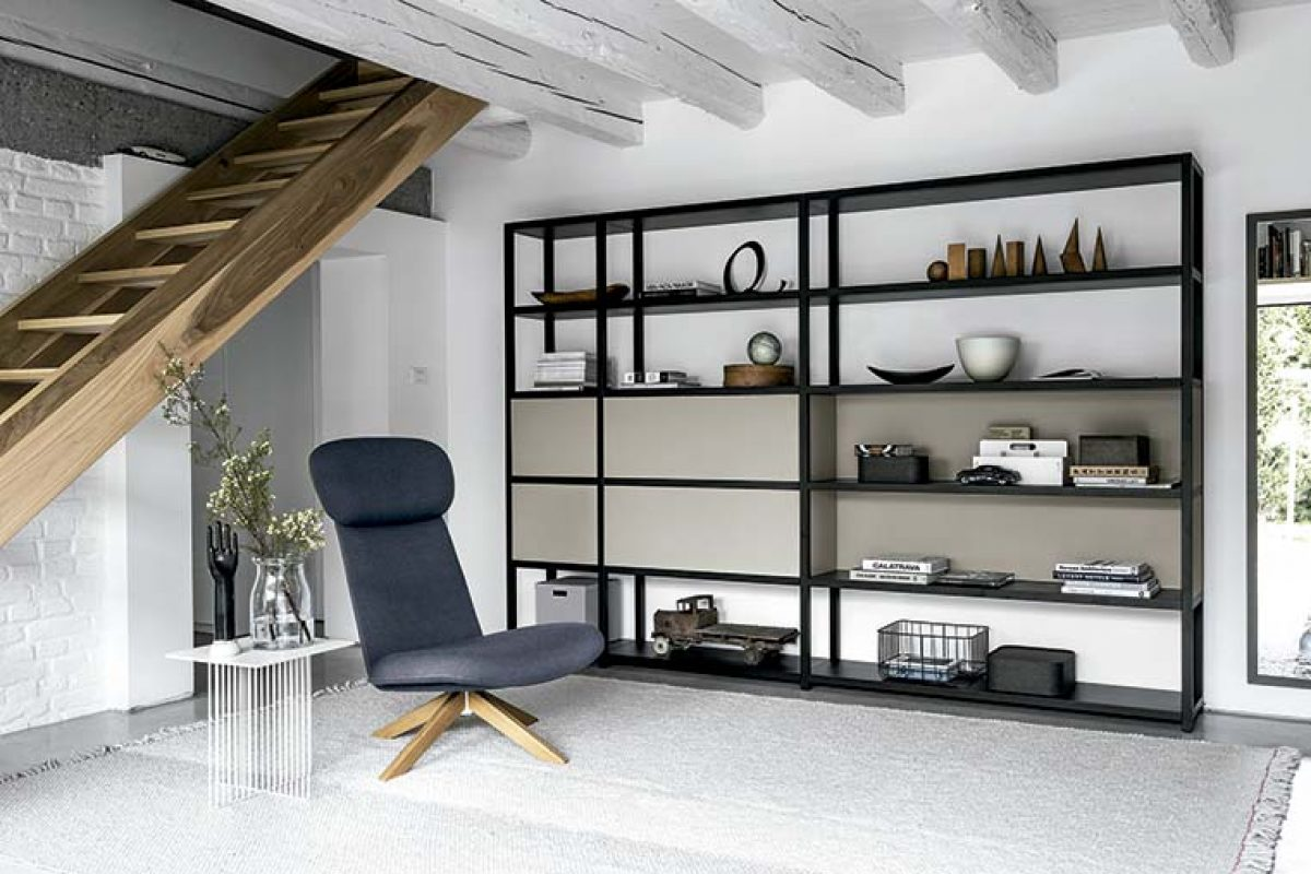 Librería Frame Bookcase de Fantin. Racionalidad, apariencia minimalista y máximo margen de personalización