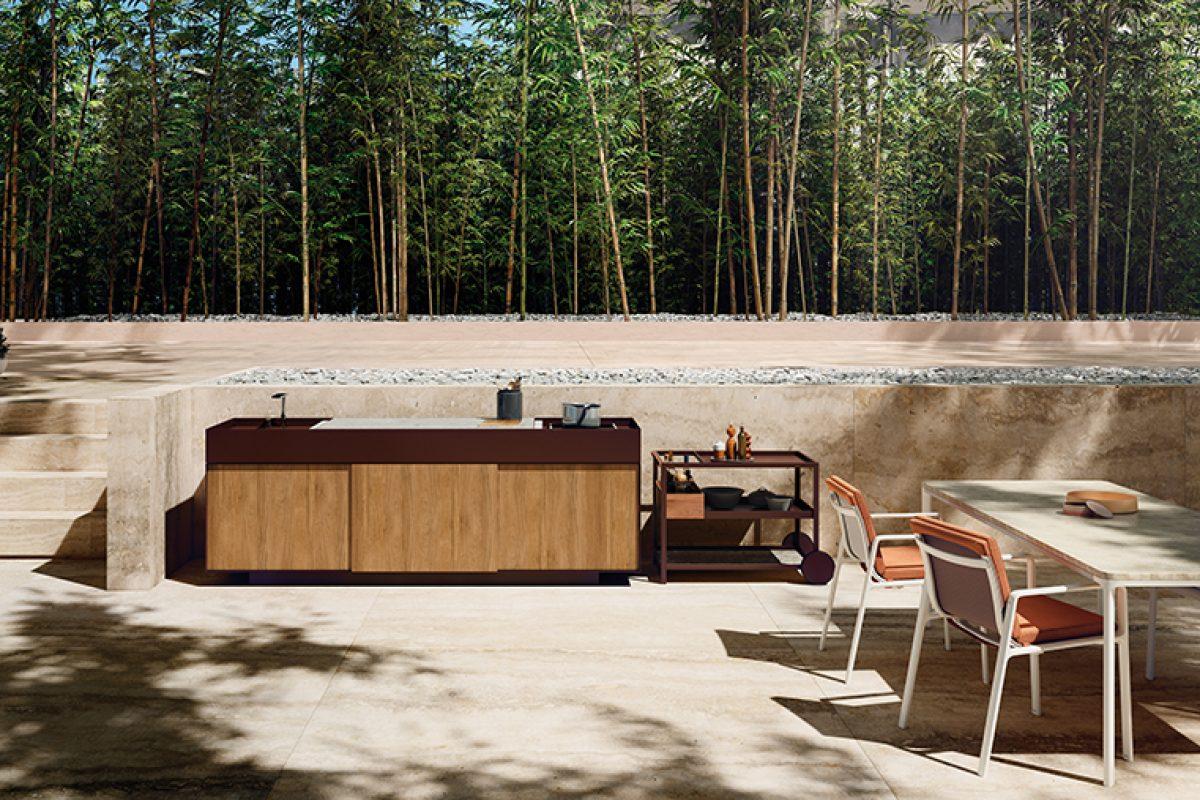La cocina para exteriores de Kettal. Diseño depurado, elegante y apto para la intemperie