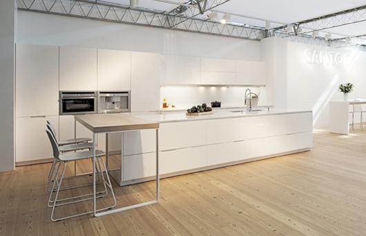 La firma espa ola de cocinas santos vuelve a eurocucina 2012 en mil n - Fotos cocinas santos ...
