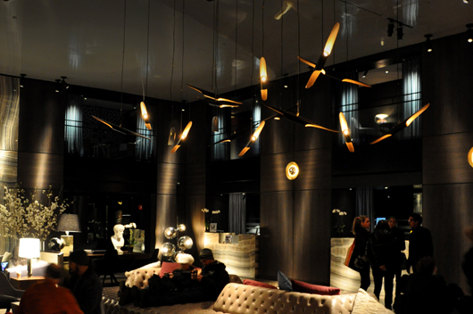 Coltrane lamp by delightfull lights the paramount hotel for Top design hotels in new york