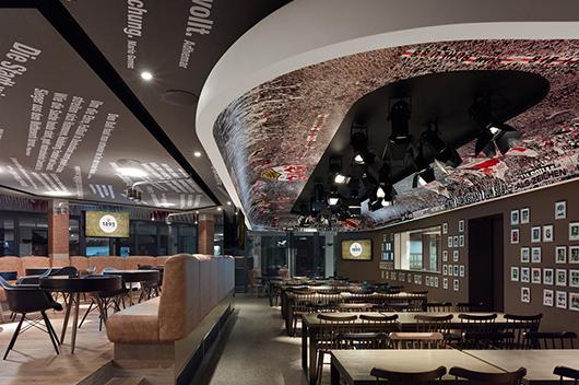 ippolito fleizt group designs the 1893 vfb stuttgart club restaurant a genuine stadium. Black Bedroom Furniture Sets. Home Design Ideas