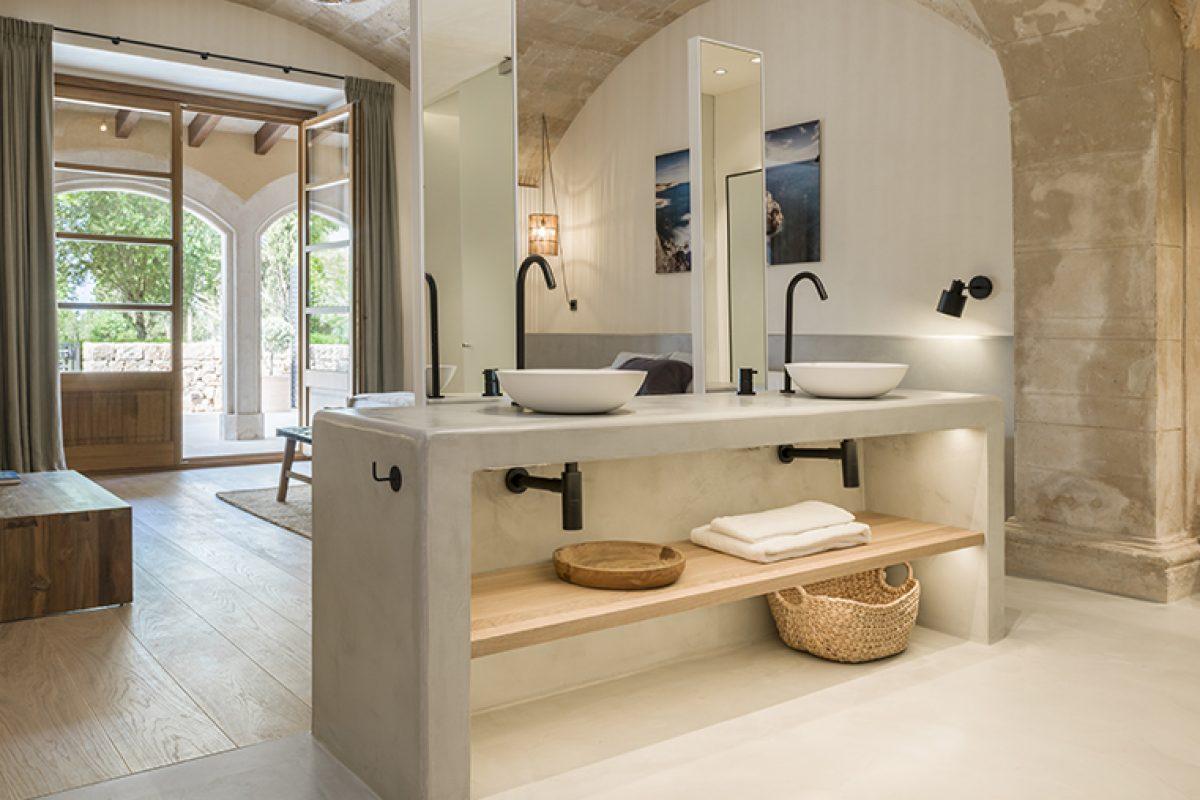 Jorge Bibiloni Studio elige la grifería Ritmonio para equipar los baños del Son Julia Country House & SPA de Mallorca