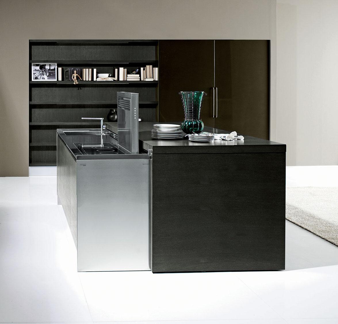 Met de aran cucine la cocina que aparece y desaparece for Muebles aran