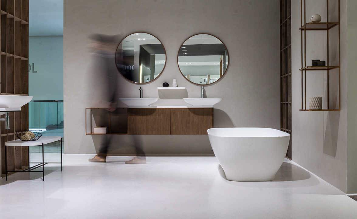 pure bathroom collection by yonoh for porcelanosa  delicate mixture of organic shapes and