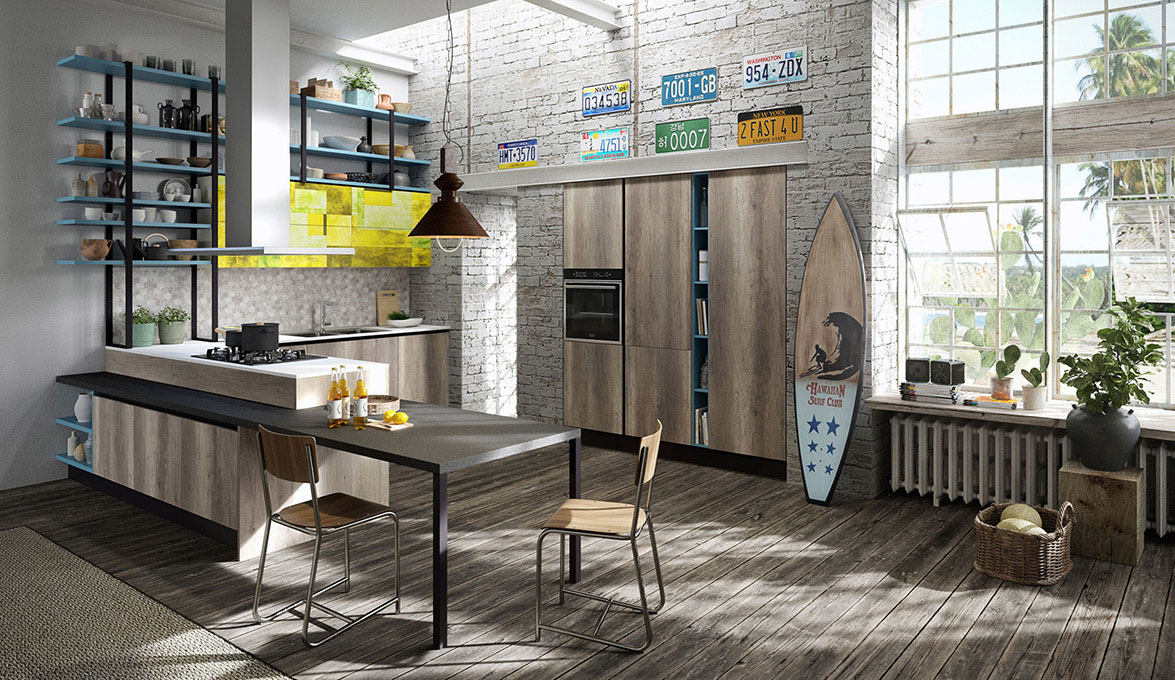 Aran Cucine presents Mia, its young and attractive kitchen line