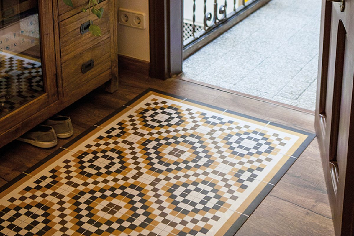 Hidraulik, especialista en alfombras vinílicas que recrean baldosas hidráulicas, presenta sus novedades