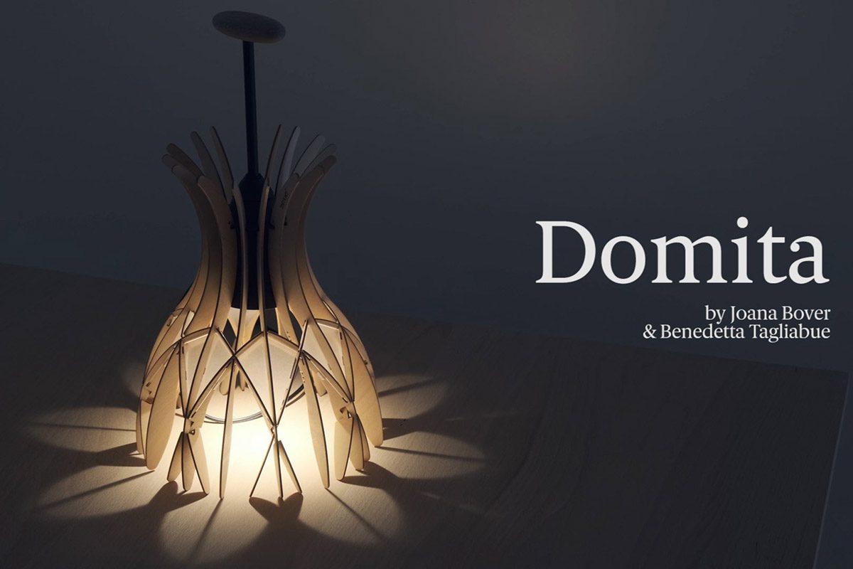 Benedetta Tagliabue y Joana Bover juegan con la luz y el volumen en Domita, una pequeña bóveda de madera