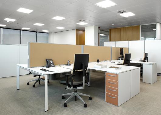 Ge lighting consigue el 57 de ahorro energ tico en sus for Iluminacion led oficinas