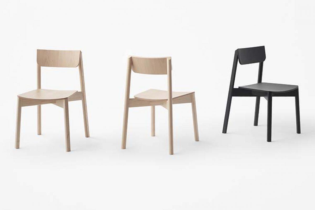 nendo diseña «blade», una nueva colección de sillas que combinan formas redondeadas y rectas